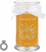 JuwelKerze Jingle Bells - Kerze im Glas mit