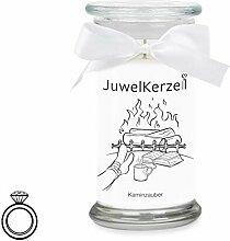 JuwelKerze Kaminzauber - Kerze im Glas mit Schmuck