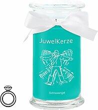 JuwelKerze Let it Snow - Kerze im Glas mit Schmuck
