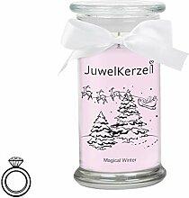 JuwelKerze Magical Winter - Kerze im Glas mit