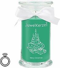JuwelKerze Merry Christmas - Kerze im Glas mit