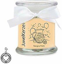 JuwelKerze Sangria Party - Duftkerze im Glas mit