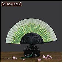 JUWOJIA Chinesische Ventilator Weibliche Falten