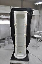 JV Moebel Vitrine Bar Eck Regal Glas Amphore Vase