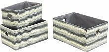 JVL Crochet Karton Aufbewahrungsbox, Grau,