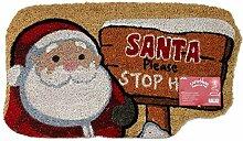 JVL Festive Weihnachten Santa Stop Here geformte