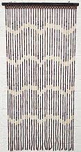 JVL Holz Bambus Perlen Fliegengitter Türvorhang