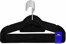 JVL Simple Range Kleiderbügel, samtartig, dünn,