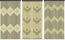 JVL Toskana Türvorhang mit Perlen, Holz,