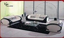 JVmoebel Beige/Braun Sofa Leder, 190 x 85 x 85 cm