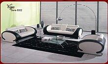 JVmoebel Beige/Braun Sofa Lederimitat, 170 x 87 x 87 cm