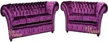 JVmoebel Chesterfield-Sofa, 3+2 Sitzer Garnitur