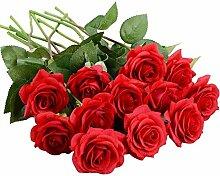 JVSISM KüNstliche Blumen Silk Rose Blumen 12 Pcs