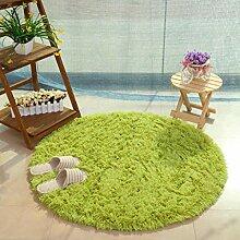 JWANS Runder Teppich für Wohnzimmer Dekor Lange