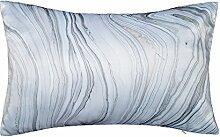 JWH Marmor Streifen Satin handgefertigt Kissen