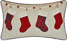 JWH Weihnachten Kissen Dekoration Überwurf