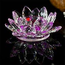 jwkklz Mini Kristall Glas Lotus Blume gefälschte