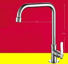 JWLT Waschbecken Küche Wasserhahn kalt und heiß