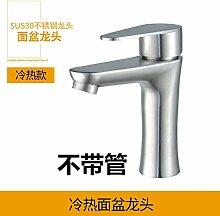 JWLT Waschbecken Waschbecken, Wasserhahn, warmes