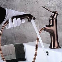 JWLT Wasserhahn amerikanische schwarze Toilette,