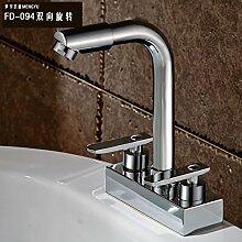 JWLT Wasserhahn Zwei Paare von Doppelwaschbecken