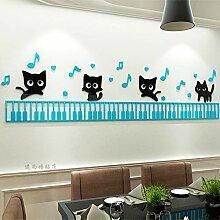 JWQT Kreative Karikatur Tastatur Kätzchen 3D
