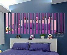 JWQT Streifen, Acryl, Spiegel, Wand, Wohnzimmer,