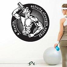 JXFM 174x174cmDIY Customize Fitness Aufkleber Gym