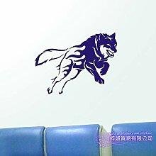 JXFM 87x115cmDIY Customize Wolf Wandtattoo Poster