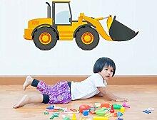 JXGG Cartoon LKW Traktor Auto Wandaufkleber