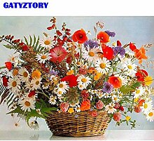 JXGG Digitales Malen Blumen Kit Leinwand Presse