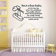 JXND Baby Wandaufkleber Kinderreime Kinderzimmer