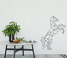 JXND Geometrische Pferd Wandaufkleber Aufkleber