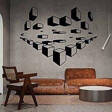 JXND Geometrische Pumpwürfel Design Wandtattoos