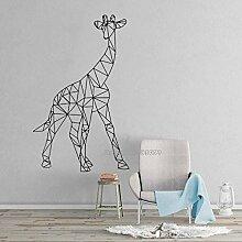JXND Kunst Wandaufkleber Giraffe geometrische