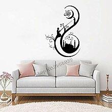 JXND Muslimische Art Aufkleber für Wohnzimmer