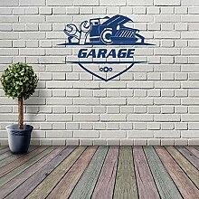 JXND Retro Classic Garage Wandaufkleber Car