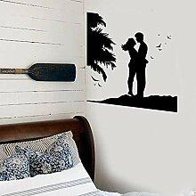 JXND Schlafzimmer Art Deco Wandaufkleber Vinyl