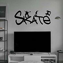 JXND Skateboard Vinyl Kalligraphie Kunst Wandkunst