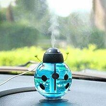 JXRYSchönheit Luftbefeuchter USB Mit sucker 360 Grad Drehen Zuhause Büro Luftbefeuchter Bunt LED Nachtlicht , blue
