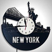 JXSHQS Wanduhr New York Skyline Kreative Kunst
