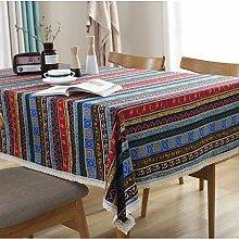 JXSQ Tischdecken Tischdecke Stoff Baumwolle Und