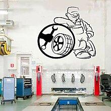 JXweilele Reifen fit Service Wandaufkleber Auto