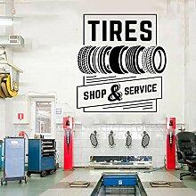 JXWR 42x46cm Reifen Shop und Service Autoservice