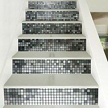 JY ART 6pcs / Set 3D Treppen Aufkleber Wasserdicht