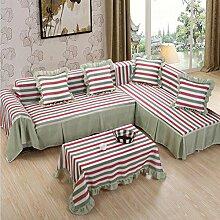 JY$ZB All-Saison Heimtextilien Volle Deckung Dickere pastoral feste Farbe Sofa Handtuch , 176*260