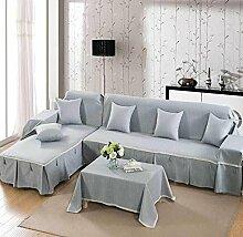 JY$ZB All-Saison Heimtextilien Volle Deckung Einfarbig dicker Baumwolle Sofabezug , fashion gray , 210*350Sofa Cover