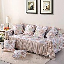 JY$ZB All-Saison Home Textiles Volldeckung Universal universelle Baumwolle Linter Kombination von pastoralen Sofa-Abdeckung , 5 , 200*350Sofa Cover