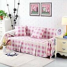 JY$ZB All-Season dicke Baumwolle Leinwand pastorale Kombination Sofa Möbel Beschützer Anti-Rutsch-Sofa Abdeckung , 4 , 200*260Lovesea