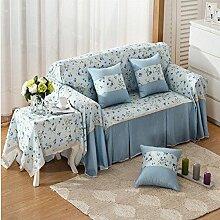 JY$ZB All-Season Home Textiles Vollverkleidung Verdickung pastorale Anti-Rutsch-Sofa-Abdeckung , 2 , 215*260Lovesea